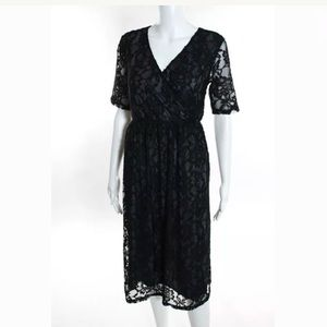 ASOS MATERNITY BLACK LACE DRESS SIZE 6 NWT